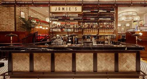 Die Bar im Jamie Oliver Wien
