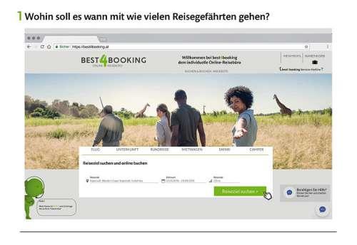 Screenshot der Funktion '1. Wohin soll es wann mit wievielen Reisegefährten gehen?'