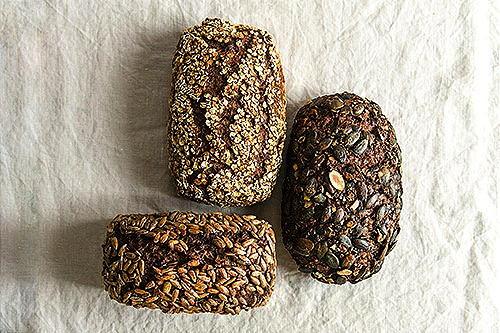 Die drei Sorten von Joseph Brot Glutenfreiem Bio-Brot.
