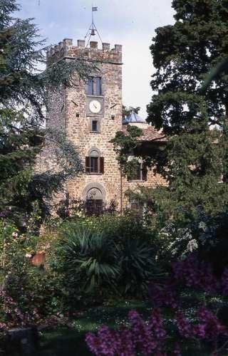 Der Turm des Castello di Querceto